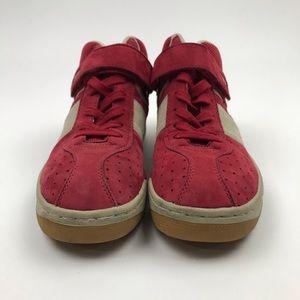 Diesel Shoes - Diesel Mid Red / Tan Suede High Top Sneakers Sz 8